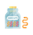 cavatappi dry pasta in a transparent glass vector image vector image