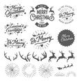 Christmas photo overlays and design elements vector image vector image
