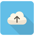Cloud upload icon vector image vector image