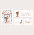 collection save date card wedding party vector image