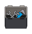 color image of opened plumbing toolbox vector image vector image