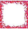 Color paper heart frame background heart frame