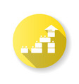 construction toy yellow flat design long shadow vector image