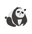 cute panda bear funny lovely animal character vector image vector image