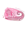 Delicate background with houses vector image vector image