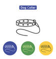 dog collar line icon vector image vector image