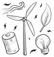 doodle power source wind vector image vector image