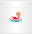 duck in water icon symbol vector image vector image