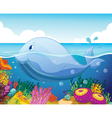 fish and coral in sea vector image