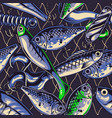 fishing lures vintage seamless pattern vector image