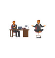 flat design businessman vector image vector image