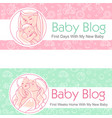 for blog mother and baby together vector image
