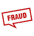 fraud sign fraud square speech bubble fraud vector image vector image