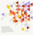 Geometric grey yellow blue triangle card vector image vector image