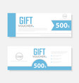 Gift voucher template layout template design vector image