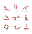 girl practicing yoga vector image vector image