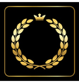 Gold laurel wreath black vector image vector image