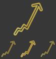 Golden line business logo design set vector image vector image