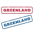 Greenland Rubber Stamps vector image