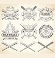 grunge baseball logos vector image