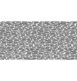 hand-drawn black and white seamless texture with vector image vector image