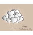 hearts on Valentine Day with butterflies vector image vector image