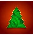 Holiday Christmas tree vector image vector image