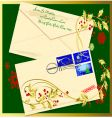 holiday envelope vector image vector image