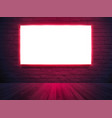 illuminated light box screen mockup poster banner vector image vector image
