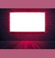 illuminated light box screen mockup poster banner vector image