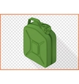 jerrycan 3d flat isometric vector image vector image