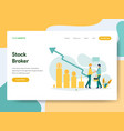landing page template stock broker concept vector image vector image