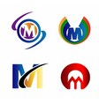 Letter M logo Icons Set Graphic Design vector image
