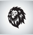 lion head cool logo design vector image vector image