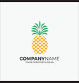 logo modern pineapple vector image