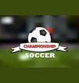 logo soccer championship vector image vector image