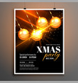 merry christmas stylish flyer poster design vector image vector image