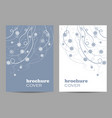 modern brochure cover design beautiful winter vector image vector image