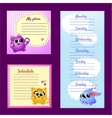 Pattern notes with cute funny pets vector image vector image