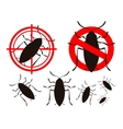 pest control cockroach icon set vector image vector image