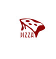 pizza slice with cheese design template vector image