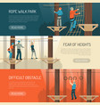rope walk activity horizontal banners vector image