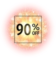 Sale banner 90 percents off vector image vector image