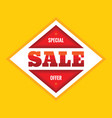 sale - concept banner special vector image