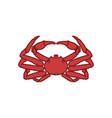 seafood crab logo design vector image