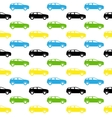 Seamless pattern Colorful Car silhouette vector image vector image
