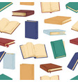 seamless pattern with open and closed books on vector image