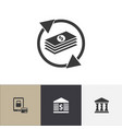 set of 4 editable banking icons includes symbols vector image vector image