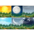 set of different nature scenes vector image vector image