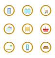 shop icons set cartoon style vector image vector image